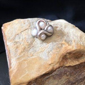 Tiffany's infinity pearl earrings